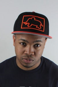 Image of Square Up Snapback Orange/Black