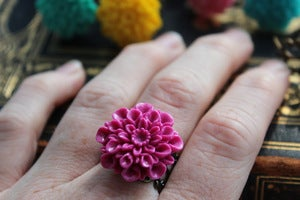 Image of Gerber Daisy Filigree Rings