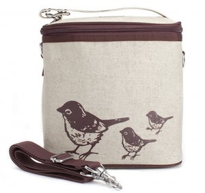 Image of So Young Mother Large Cooler Bag - Brown Birds