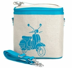 Image of So Young Mother Large Cooler Bag - Turquoise Scooter