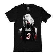Image of Mens Black #1 Wade Fan Miami Heat Tee