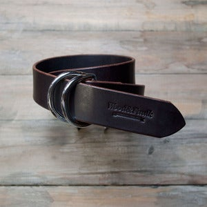 Image of The D-Ring Belt, Brown/Chrome
