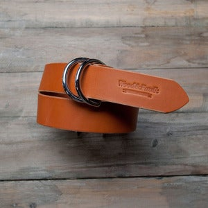 Image of W&F D-Ring Belt - 1.5in Tan/Chrome