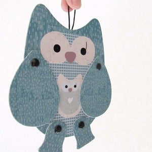 Image of Olga owl, articulated paper animal