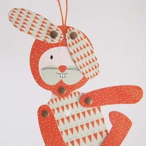 Image of Nicols rabbit, articulated paper animal