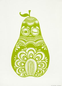 Image of Small poster Folkloric pear green