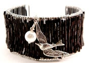 "Image of 	 Katniss Mockingjay & Peeta Pearl Bracelet Inspired ""The Hunger Games Jewelry"""