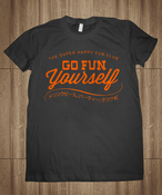 Image of Go Fun Yourself Shirt - Charcoal Grey