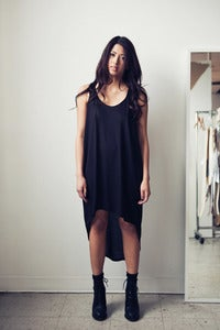 Image of Curved Hem Racerback Tank Dress