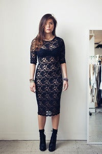 Image of Lace Column Dress