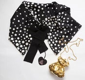 Image of black&white dotted mini cloak