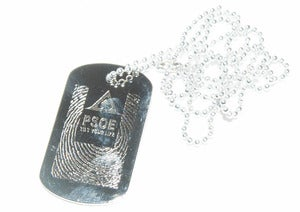 Image of PSOE: Tilt Your Life (Dog Tag)