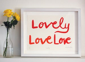 Image of 'Lovely' Love Print 