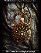 Image of Witches Purse Pocket Locket for Oils, Perfume, Herbs and Magick