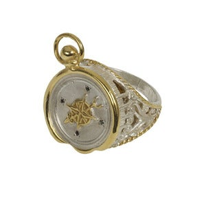 Image of Wax Seal Compass Ring with top