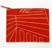 Image of DAZZLE ZIP CLUTCH orange