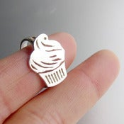 Image of Sweet Cup Cake (cupcake) Ring - Handmade Silver Ring.