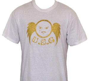 Image of WOMENS GOLD FITTED USG T-SHIRT