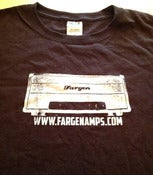 Image of Fargen Amps 100% cotton T shirt (chocolate)