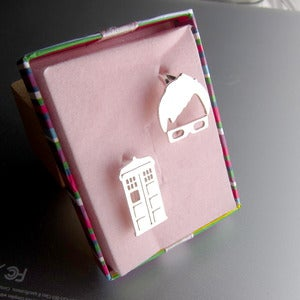 Image of  Tenth Doctor Ring from Doctor Who - Handmade Silver Ring