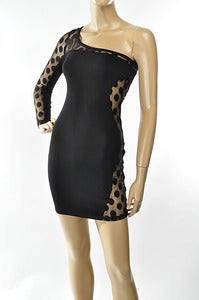 Image of Polka dot mesh dress