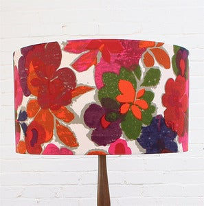 Image of Large Lampshade in Vintage Bright Floral