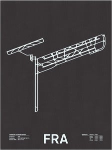 Image of FRA: Frankfurt am Main Airport Screenprint