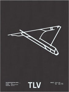 Image of TLV: Ben Gurion International Airport Screenprint