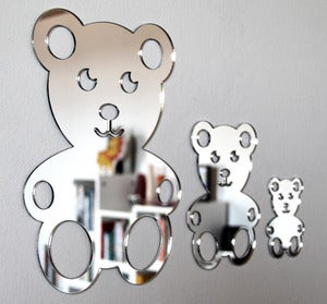 Image of Shatterproof Teddy Family Mirrors