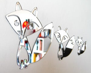 Image of Shatterproof Fox Family Mirrors