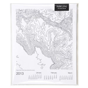Image of 2013 Topographic Wall Calendar