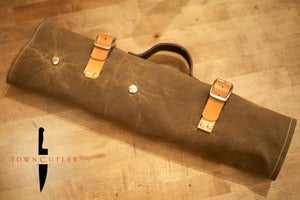 Image of Knife Roll - Brown