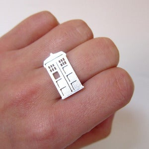 Image of Doctor Who TARDIS - Handmade Silver Ring