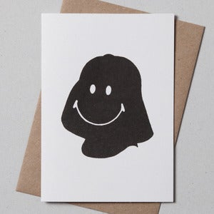 Image of Darth Smiley Greetings Card