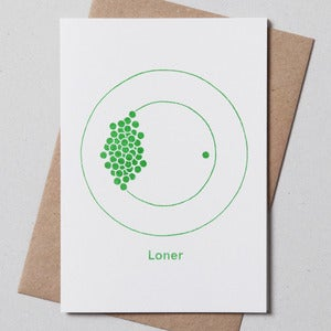 Image of Loner Greetings Card