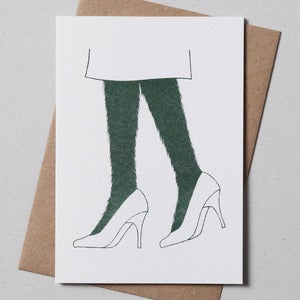 Image of Hairy Legs Greeting Card