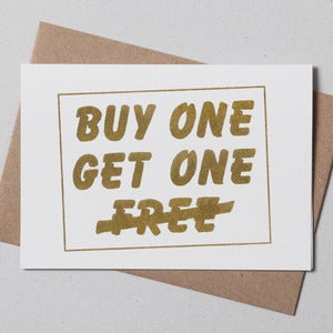 Image of Buy One, Get One Greetings Card