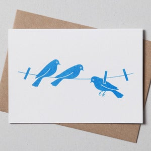 Image of Washing Line Greetings Card