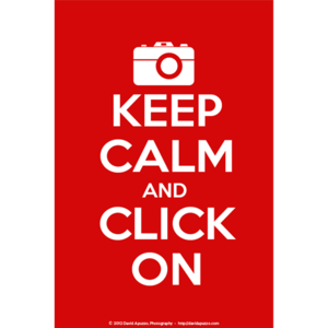 Image of &quot;Keep Calm/Click On&quot; Poster