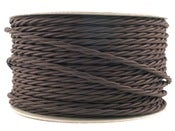 Image of DARK BROWN | fabric lighting flex cable | TWIST