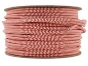 Image of RED WHITE STRIPE | fabric lighting flex cable | ROUND