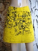 Image of Yellow Print Skirt