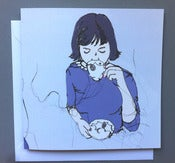 Image of 'Blue Kirsty' Greetings card