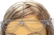Image of Multi-chain Single Rhinestone Head Chain (Gold, Silver)