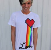 Image of White Love Rainbow tee