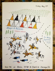 Image of Maps & Atlases record release poster 2012