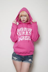 Image of DubstepCuresCancer Pink Hoodies (unisex)