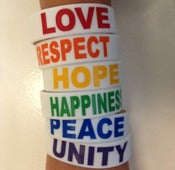 Image of White Rainbow Bracelets