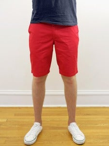 Image of Organic Red Twill Angus Young Shorts