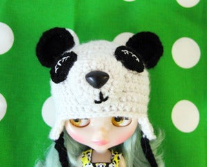 Image of Pandamonium Crocheted Blythe Hat